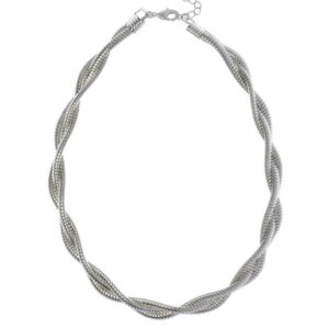 Choker Necklace with a Twist Silver