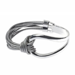 Grey Multi Cord Bangle